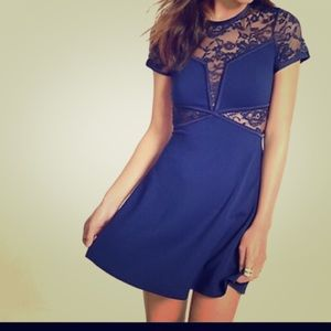 Navy blue lace dress!